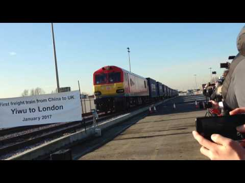 Train arrives in Barking from China after 7,500 mile journey
