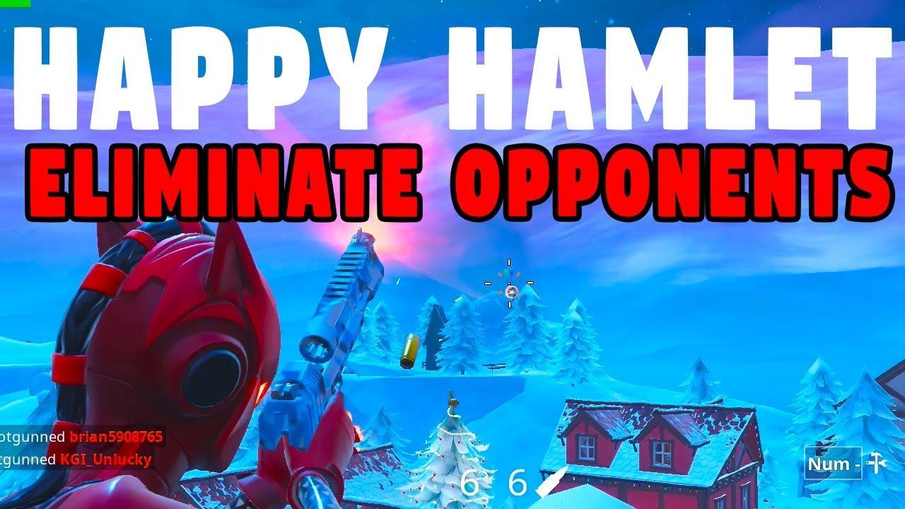 Eliminate Opponents At Happy Hamlet Or Pleasant Park Week 4
