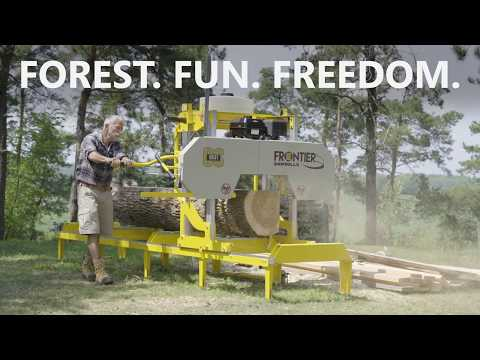 Frontier Sawmills Attachments - Log Loading Ramps & Winch System