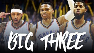 A NEW BIG THREE: Russell Westbrook, Carmelo Anthony, & Paul George (OKC Promo 2017) ᴴᴰ
