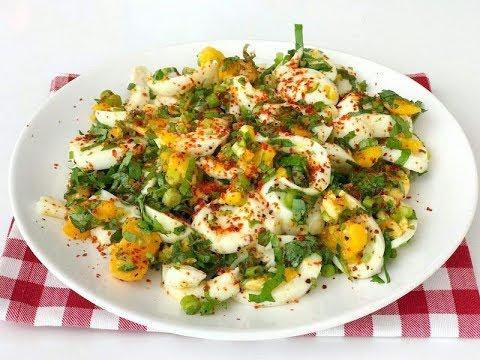 Vazgeçemeyeceğiniz bir Kahvaltılık #Yumurta Salatası