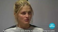 Therese Johaug's suspicious press conference (english subtitles)