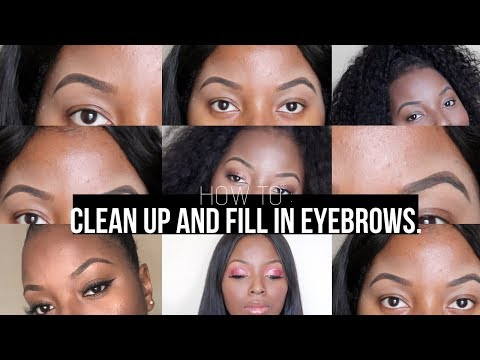 How to fill & clean up eyebrows | Easiest Tutorial