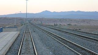 Iran - From Mashhad to Tehran by train wonderful railroad view - August 2012 (Full HD 1080p)