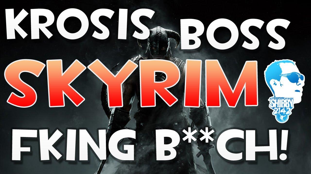 skyrim krosis skeleton boss battle how to beat kill frost atronach voice shout power youtube
