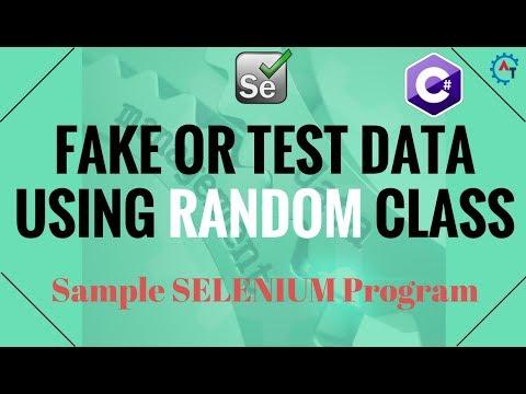 15. Sample Selenium Program Using RANDOM Class In C#