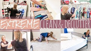 EXTREME CLEAN & DECLUTTER   MEGA BURST CLEANING   DOING THE MOST CLEAN WITH ME   SAHM