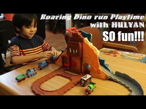 Thomas Take N Play: Roaring Dino Run Playset Playtime W/ Hulyan