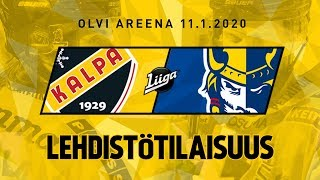 Lehdistötilaisuus, KalPa - Jukurit, 11.1.2020