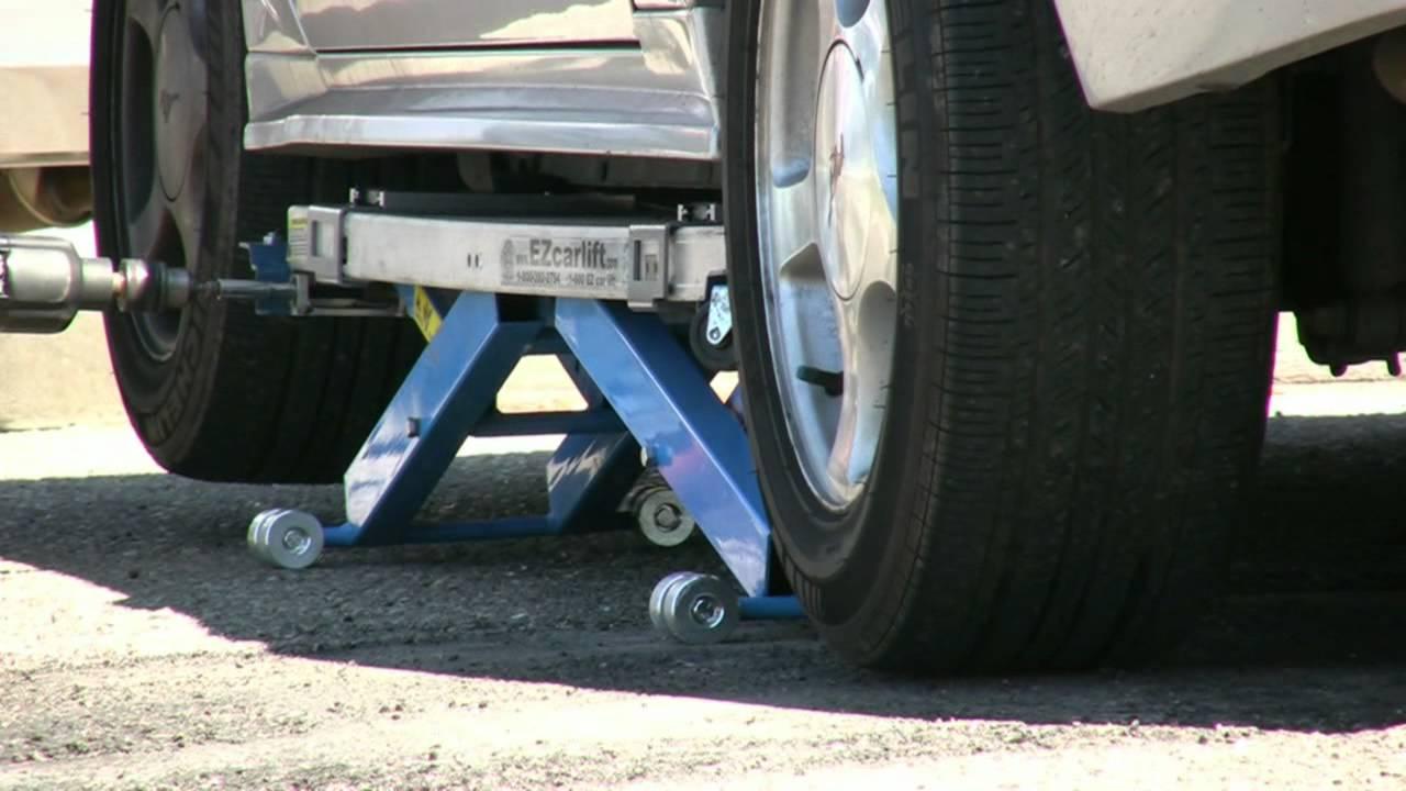 EZcarlift  Model SU  mobile mechanics lift  YouTube