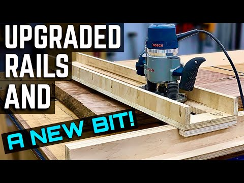 Upgraded router sled rails and a new flattening bit! / How to flatten a slab