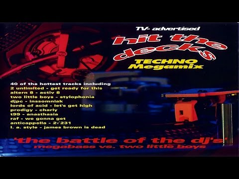 Hit The Decks Volume One - Techno Megamix - The Battle Of The DJ's [1992]