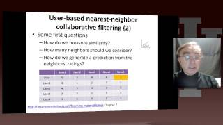 Big Data Course-Spring Unit 16: Lesson 6: User-based nearest-neighbor collaborative filtering I