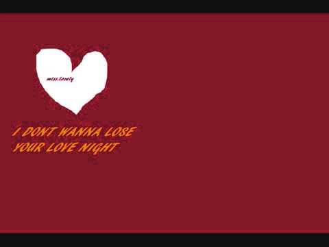 I Don't Wanna Lose Your Love Tonight Reggae