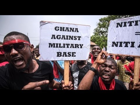 "Ghana protest ""SH#T HOLE US Military agreement"" and Soldier IMPUNITY"