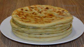 Лепёшки с черемшой творогом и сыром Cakes with wild garlic cottage cheese and cheese