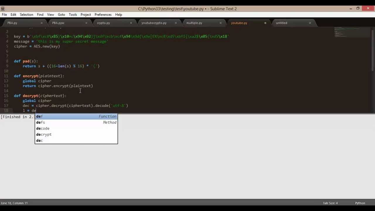 Python Tutorial: PyCrypto AES Encryption/Decryption