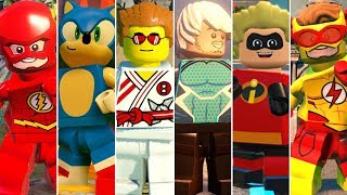 All Speedsters in LEGO Videogames w/All DLC (2012 - 2019)