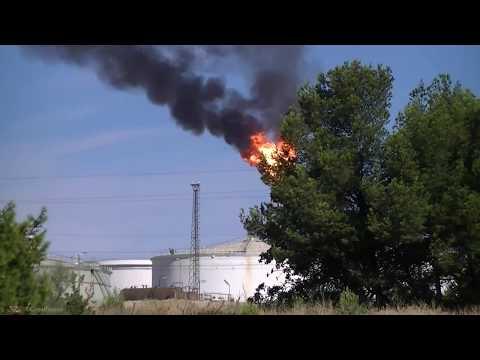 Torchère Raffinerie De Berre L'Etang