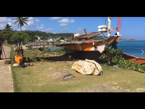 Canoe and her crew blessed as they prepare to sail from Hagatna