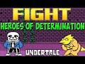 Undertale файтинг Heroes Of Determination Sans mp3