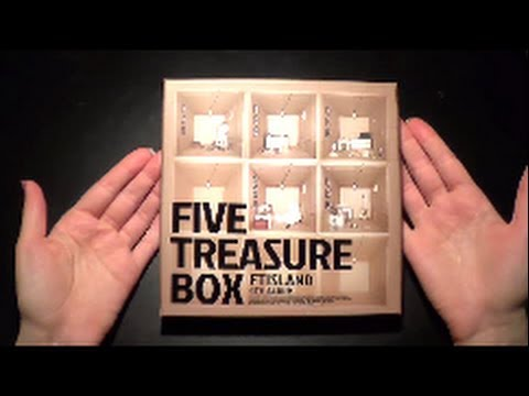 Unboxing FT Island 에프티 아일랜드 4th Album Five Treasure Box (Taiwan Limited Edition CD+DVD)