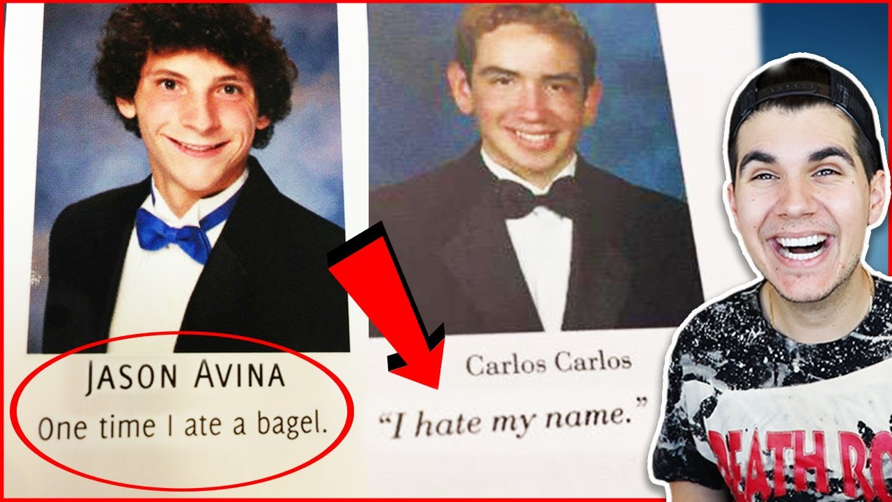 funniest senior yearbook quotes youtube