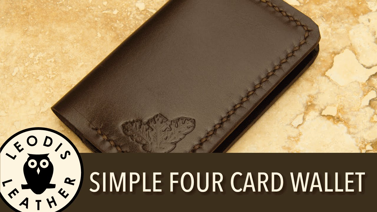 Making A Simple 4 Card Leather Wallet