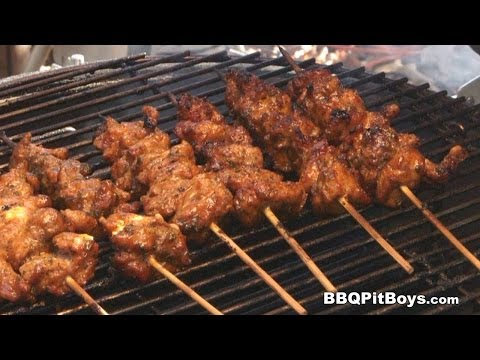 Alligator Sauce Piquant, Alligator Kababs by the BBQ Pit Boys