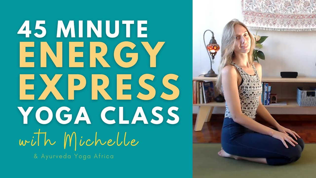 45 minute Energy Express II | Hatha Yoga Class | Yoga Online with Michelle