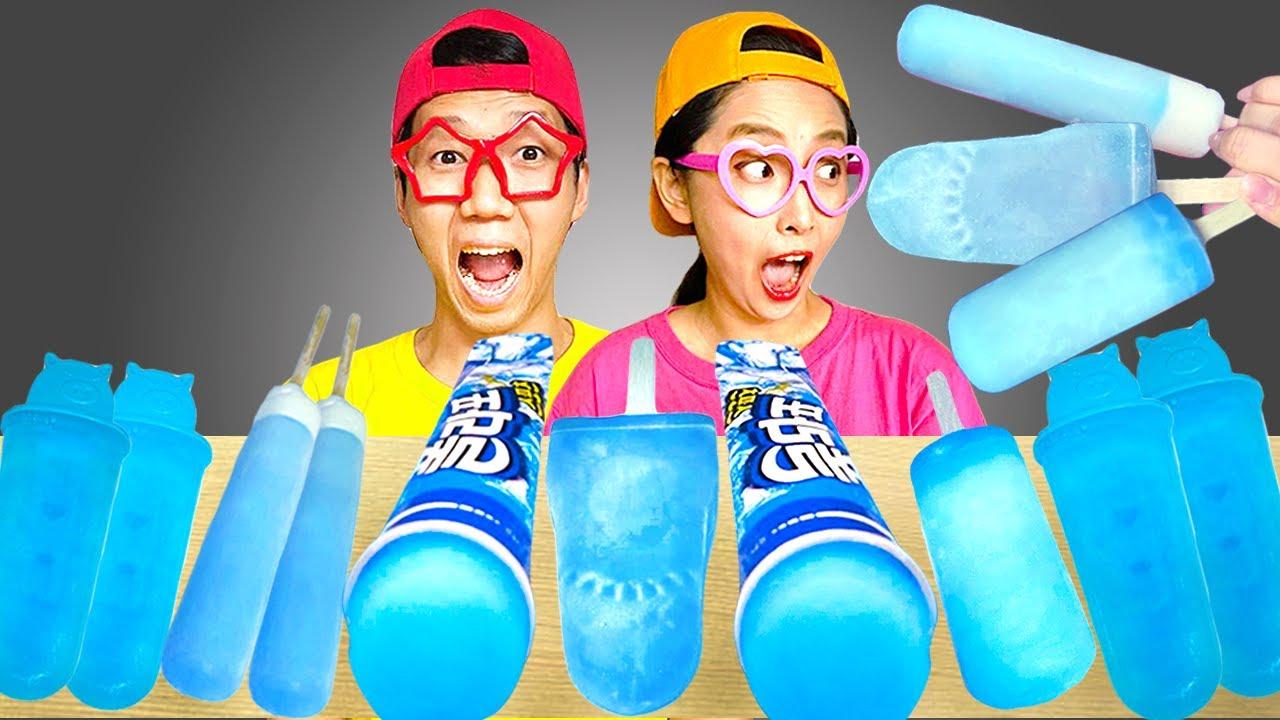 Ice Cream Blue Mukbang Yummy Mukbang
