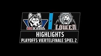 DEL2 Highlights Playoffs Viertelfinale Spiel 2   Kassel Huskies vs. Löwen Frankfurt