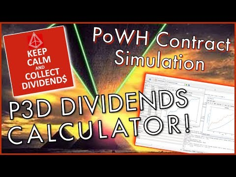 P3D DIVIDENDS CALCULATOR! - Predict How Much P3D You Will Earn With PoWH... CONTRACT SIMULATION...