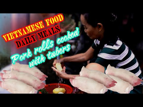 Vietnamese Food | Many types of tubers cook pork spring soup with fish scallops | Great lunch