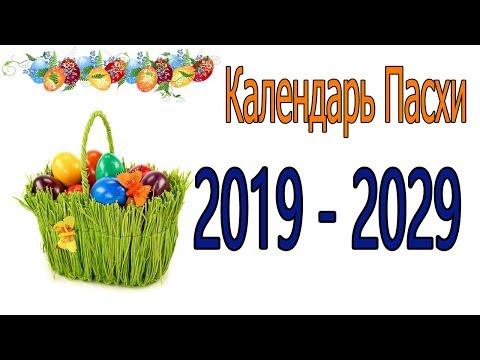 Календарь Пасхи 2019-2029 год