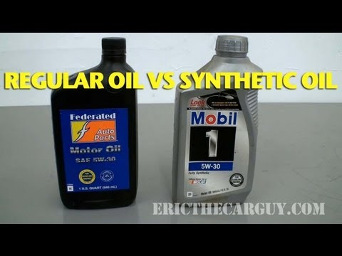 Synthetic Oil Vs Regular Oil >> Regular Oil vs Synthetic Oil -EricTheCarGuy - YouTube