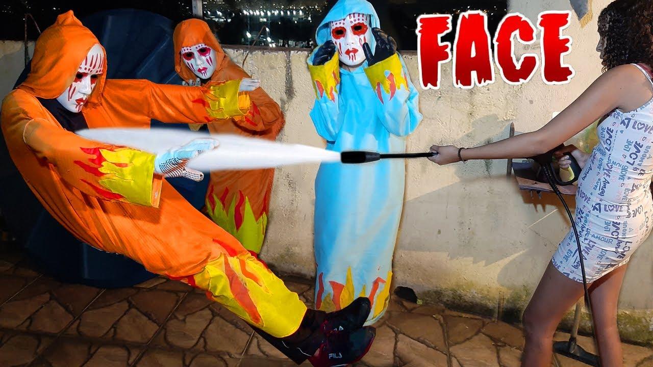 JOGAMOS UM JATO DE ÁGUA NOS FACES ( RAFA & LUIZ )
