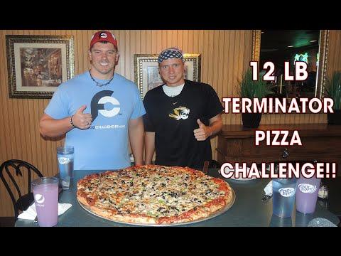 12lb VEGETABLE Pizza Challenge w/ Ramsey Hilton!! (HW #3)