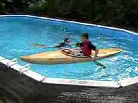kayak in swimming pool youtube