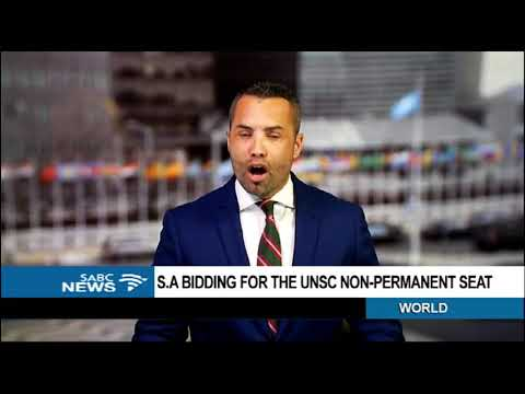 DISCUSSION: SA's bid for a seat at the UN Security Council