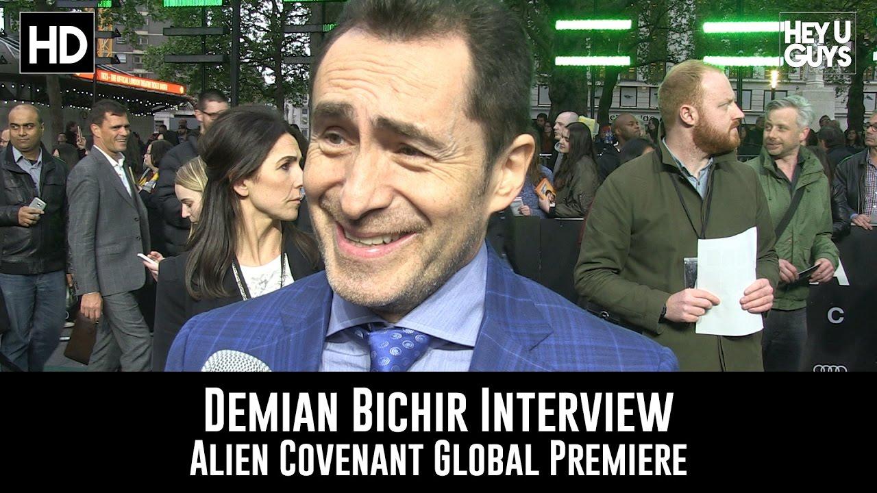 Demian Bichir Premiere Interview Alien Covenant Youtube