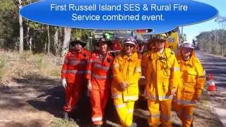 First Russell Island SES and Rural Fire Service combined event
