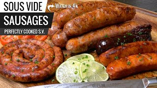 Sous Vide SAUSAGES Perfection - How to COOK SAUSAGE sous vide