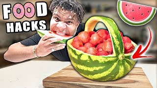 I Tested These 11 VIRAL Food HACKS!! (YOU'VE BEEN EATING THESE EVERYDAY FOODS WRONG)