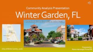 Community Analysis: Winter Garden, Florida