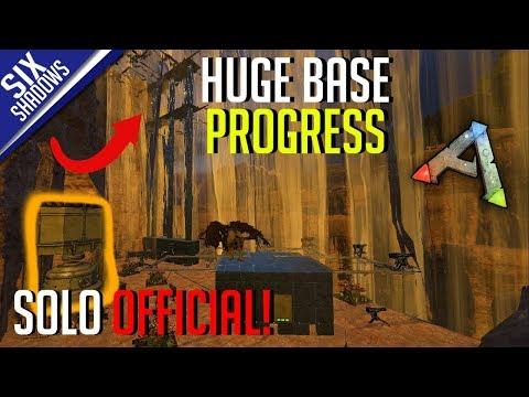 HUGE BASE PROGRESS !   Solo PvP Official Servers - Ark: Survival Evolved