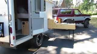 Off Road Cargo Trailer Conversion & Slide Out Kitchen - For Sale