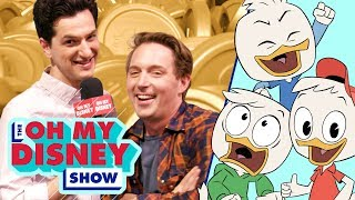 The Cast of DuckTales Answers Questions in Scrooge McDuck's Money Bin   Oh My Disney