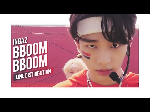 STRAY KIDS x THE BOYZ x MXM x Samuel - BBOOM BBOOM Line Distribution (Color Coded)