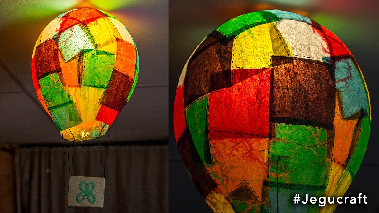 Lampara de papel globo aerost tico decoraci n youtube - Lamparas de techo de papel ...